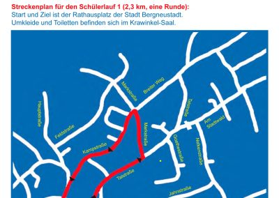 Strecke 2,3 km