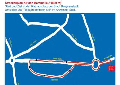 Strecke 800 Meter